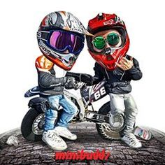MiniBuddz (@minibuddz) • Instagram photos and videos Motorcycle Humor, Motorcycle Art, Yamaha Rxz, Moto Logo, Duke Bike, Stunt Bike, Baby Bike, Bike Pic, Bike Illustration