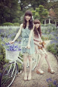 love these polka dot dresses #mori