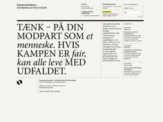 Corporate website for Kammeradvokaten by Marge Aru, via Behance