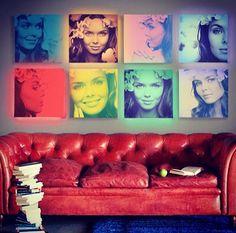 Pop-art portrait