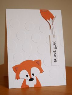 Handmade by Margaretha - Babykaart met Collectables Fox (COL1355) van Marianne Design