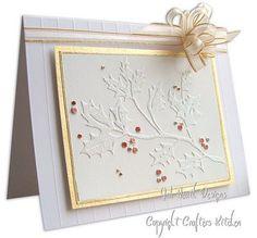 cuttlebug card ideas | Jak Heath.com: Cuttlebug Christmas - Holly Branch