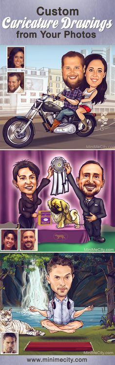 This is a fully custom caricature drawn based on the photos you provide and the idea you have in mind.Caricature drawings make a great idea for invitation cards (weddings, birthdays, bachelorette, etc…), posters, signboards, gifts and much more!