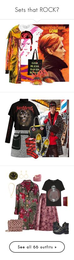 """""""Sets that ROCK❤"""" by sunnydays4everkh ❤ liked on Polyvore featuring Missoni, House Of Voltaire, House of Holland, davidbowie, Vetements, Giambattista Valli, Wolford, Prada, Dolce&Gabbana and Erdem"""
