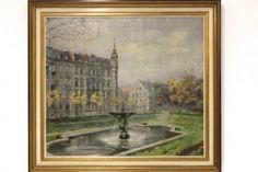 Öl Gemälde Karl Hemmerlein Hornschuchpromenade Fürth