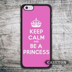 Keep Calm And Be A Princess Pink Case For iPhone 7 6 6s Plus 5 5s SE 5c 4 4s and For iPod 5 Classic Lovely Cover //Price: $US $2.99 & FREE Shipping //     #apple