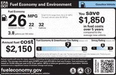 {How to read the fuel economy label on an alternative-fuel vehicle}  New EPA Fuel Economy and Environment Label