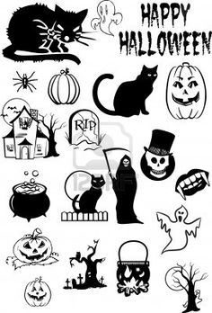 Halloween Silhouettes Royalty Free Cliparts, Vectors, And Stock Illustration. Image 8974323.