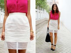 DIY SHEER HEM PENCIL SKIRT