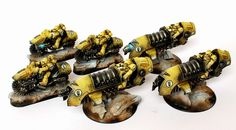 40k - Space Marine Imperial Fist Outriders and Jetbikes by ThirdEyeNuke