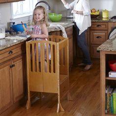 Guidecraft Wooden Contemporary Kitchen Helper in Honey