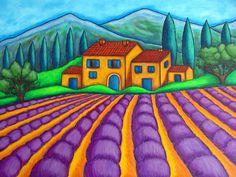 Les Couleurs De Provence Painting - Les Couleurs De Provence Fine Art Print