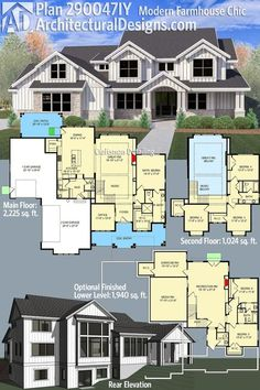 Architectural Designs Modern Farmhouse Plan 290047IY gives you over 3,200 sq. ft. of heated living space PLUS an optional finished lower level. Ready when you are. Where do YOU want to build?