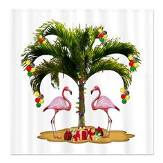 Tropical Holiday Shower Curtain    omg--gotta have