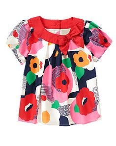 Bow Graphic Flower Top - Gymboree