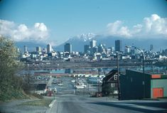 From Oak and 8 Ave. - City of Vancouver Archives West Coast Canada, Vancouver Bc Canada, Iconic Photos, Urban Life, Most Beautiful Cities, Old Pictures, Pacific Northwest, Historical Photos, Travel Posters