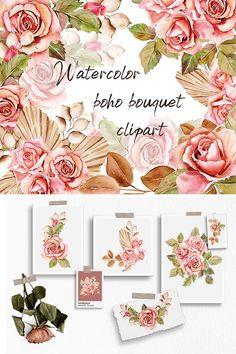 Graphic Illustration, Illustrations, Rose Clipart, Craft Stickers, Vintage Theme, Boho Designs, Pattern And Decoration, Arrow Keys, Design Bundles