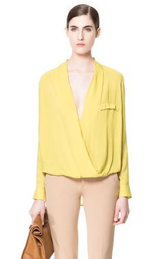 Image 1 of DRAPED VISCOSE BLOUSE from Zara