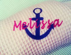 Personalized Anchor Spa Robe with name