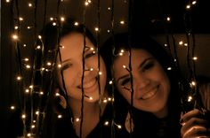 Playing with Christmas lights could make for fun pictures!