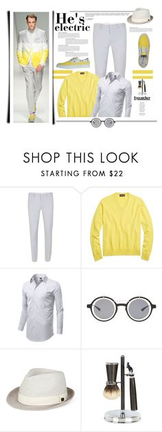 """""""He Iz Electric"""" by emcf3548 ❤ liked on Polyvore featuring Frankie Morello, Topman, Brooks Brothers, Anja, DAMIR DOMA, Sean John, Cedes, men's fashion and menswear"""