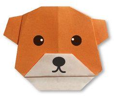 Origami tête d´Ours facile pour enfants et débutants