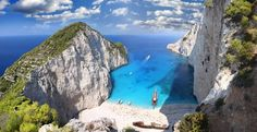 Playa Navagio, Zakynthos, Grecia by Landscape Master Greece Wallpaper, Beach Wallpaper, Zakynthos Greece, Destination Voyage, Turquoise Water, Island Beach, Beach Cove, Ocean Beach, Greek Islands