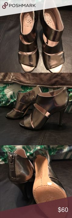 Vince Camuto Karmi Metallic Silver Booties Sz 7.5 Vince Camuto Booties - Metallic Silver - Size 7.5 - Only worn a couple of times! Vince Camuto Shoes Ankle Boots & Booties