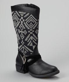 Black & Gray Penny Boot