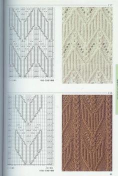 beautiful patterns knitting | make handmade, crochet, craft. Lots of lace stitches.