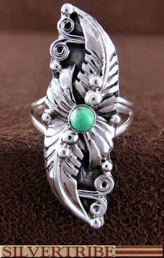 Authentic Sterling Silver Turquoise Jewelry Ring
