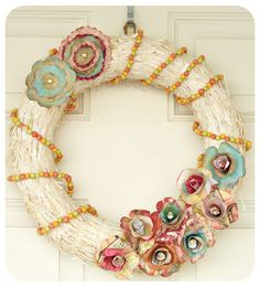 Fabulously homemade wreath for gift giving