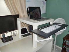 likeness of make a standing desk manually to afford a healthy working style