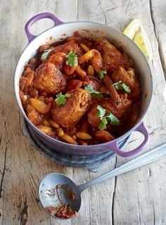 This Moroccan-style tagine recipe is a one pot wonder, infused with exotic spices and easily cooked on the hob.