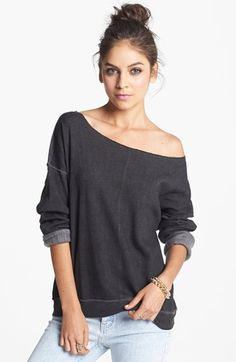 I have a thing for off the shoulder sweatshirts.... I just do.