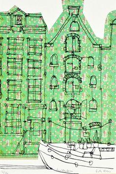 Ruth Allen Art Watercolor Architecture, Architecture Art, Building Illustration, Illustration Art, Rankin Photography, Bullet Art, Gcse Art Sketchbook, Kitsch, Cityscape Art
