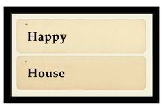 Happy House   10x17   flash cards  OKL