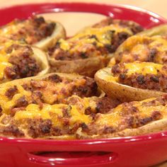 Cheeseburger Potato Skins | Rachael Ray Show