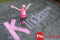 kidergarten word in chalk picture