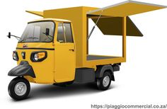 Piaggio Commercial Three Wheel Vehicles (Tuk Tuks), the most compact, maneuverable and versatile light urban means of transport for short distance travel. Coffee Carts, Coffee Shop, Truck Restaurant, Mobile Food Cart, Food Truck Business, Piaggio Ape, Container Shop, Food Trailer, Vespa
