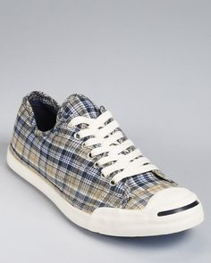 Converse Jack Purcell LP Ox Plaid Sneakers