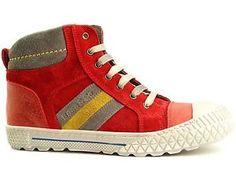 BANA-CO-Maedchen-Kinder-High-Top-Sneaker-Schuhe-rot-Echtleder-Gr-30-35-NEU