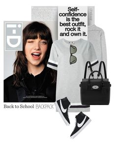 """""""Back to School: Confidence"""" by chebear ❤ liked on Polyvore featuring Étoile Isabel Marant, MSGM, Mulberry, NIKE, Ray-Ban, BackToSchool, backpack, nike and chebear"""