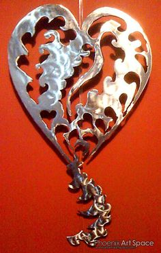 plasma cut art heart - my husband can make this