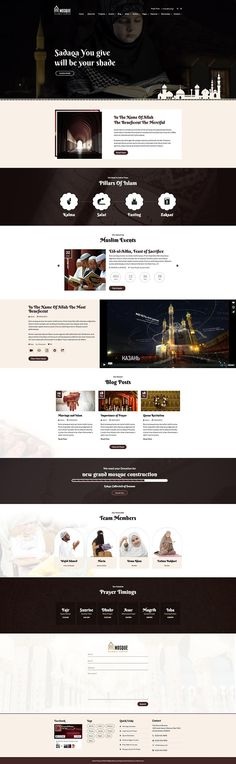 Mosque is a fully responsive religious WordPress theme created specifically for Mosques with features like teachings, events, services, donations and more.