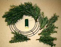 Rosemary Wreath with my extra Rosemary plants