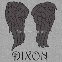 Daryl Dixon Wings - The walking dead by NerdOnParade