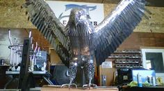metal eagle sculpture - Google Search