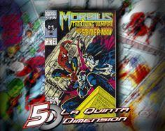MORBIUS # 3  COMIC DE 1992, CON EL HOMBRE ARAÑA COMO HÉROE INVITADO. $ 50.00 Para más información, contáctanos en http://www.facebook.com/la5aDimension
