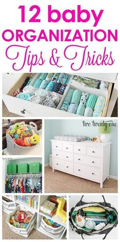12 baby organization tips! From nursery organization to organizing toys-- storage tips and tricks to make life with a baby easier! Bebe Love, Ideas Para Organizar, Preparing For Baby, Everything Baby, Baby Time, Baby Boy Nurseries, Modern Nurseries, Organization Hacks, Organizing Toys